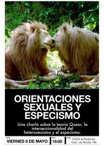 cartel orientaciones sex y especismo